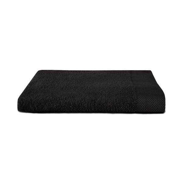 Czarny ręcznik Seahorse Pure, 70x140cm