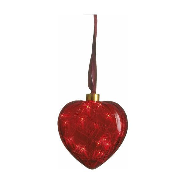 Świecące serce Heart Red, 13 cm