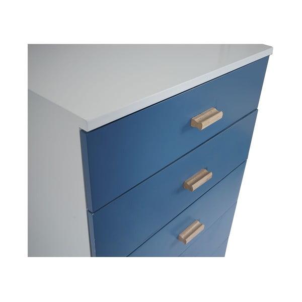 Komoda z pięcioma szufladami Vaasa Blue