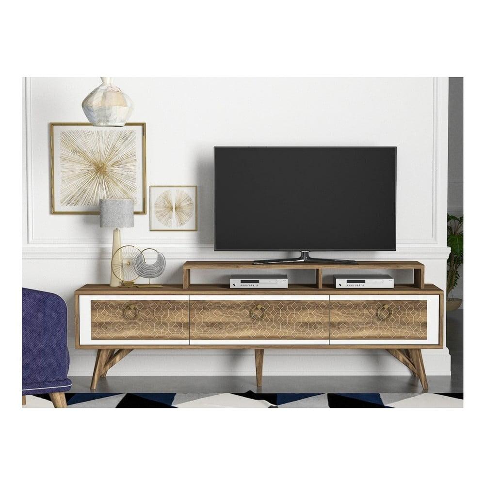 Szafka pod TV w dekorze drewna orzechowego Rosso