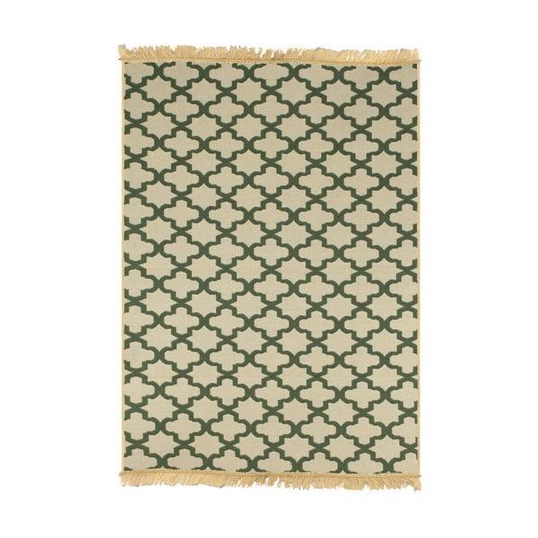 Zieleno-beżowy dywan Ya Rugs Yildiz, 80x150cm