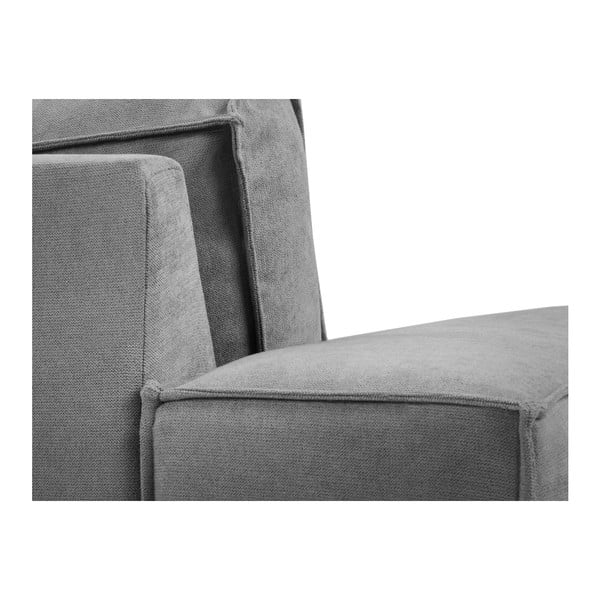 Szara sofa 3-osobowa Kooko Home Modern