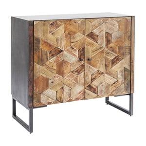 Brązowa komoda z drewna mangowca Kare Design Tortuga