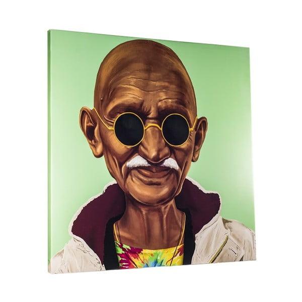 Obraz Gandhi, 80x80 cm