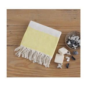 Żółty ręcznik Hammam Elmas, 100x180cm