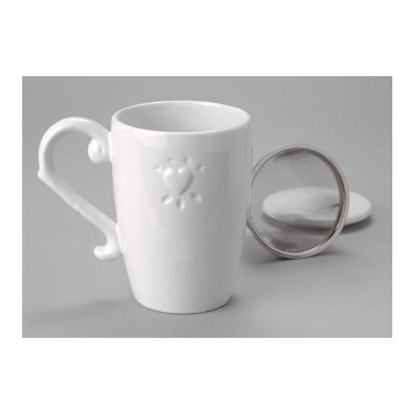 Kubek na herbatę z sitkiem Heart