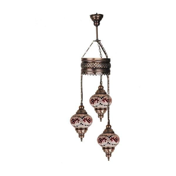 Szklana lampa wisząca Three XIV, 13 cm