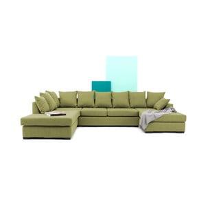 Zielona sofa narożna Vivonita Linus
