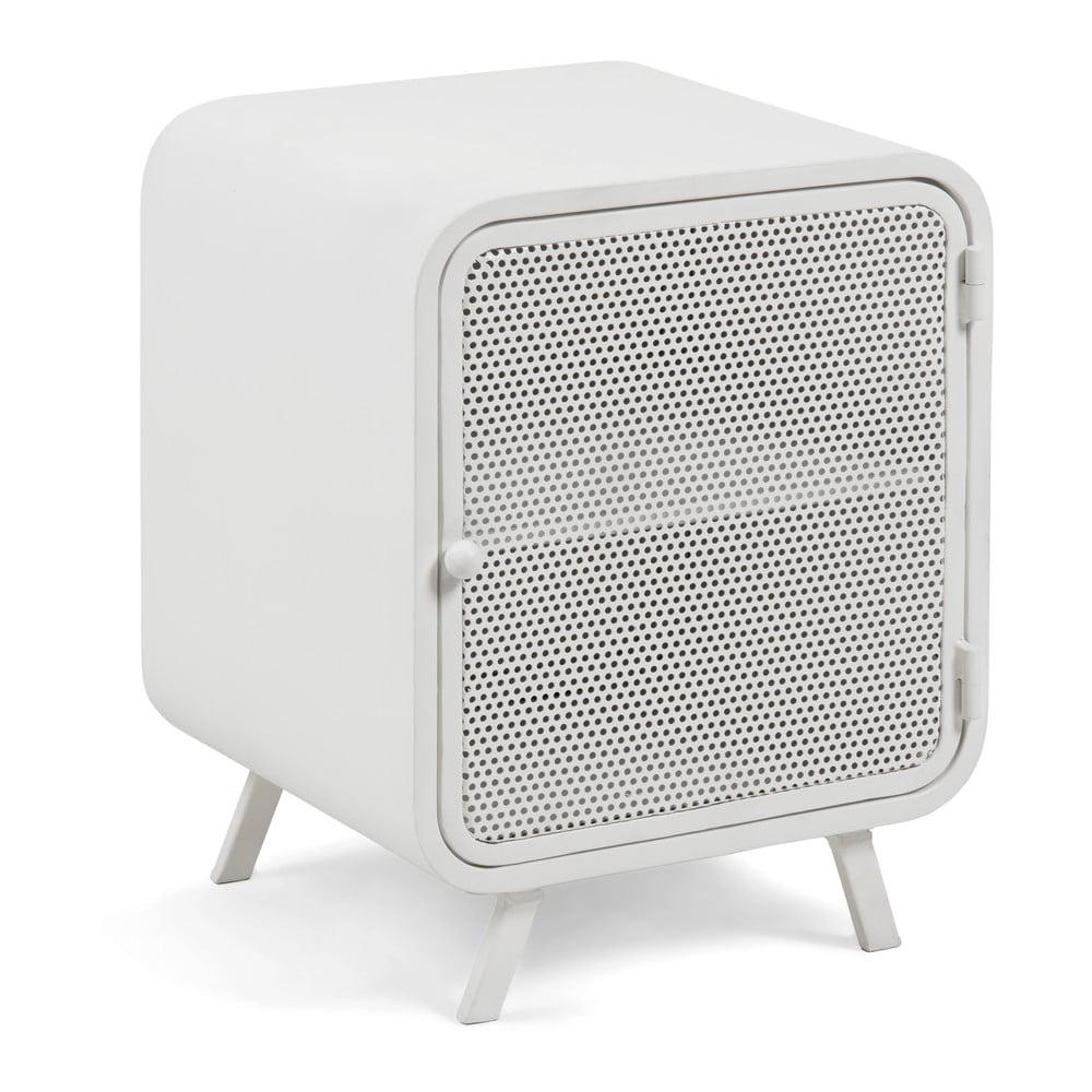 Biała metalowa szafka nocna La Forma Wyatt, 42x38cm
