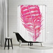 Zasłona prysznicowa Pink Feather, 180x180 cm