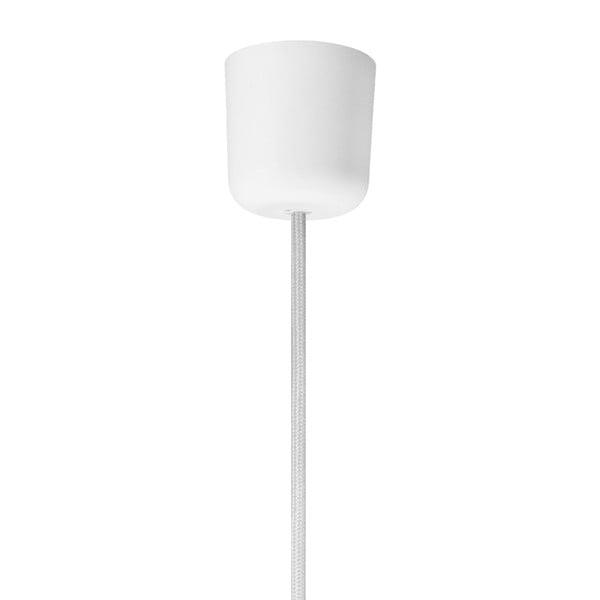Lampa wisząca z białym kabelem i oprawą żarówki w srebrnym kolorze Bulb Attack Uno