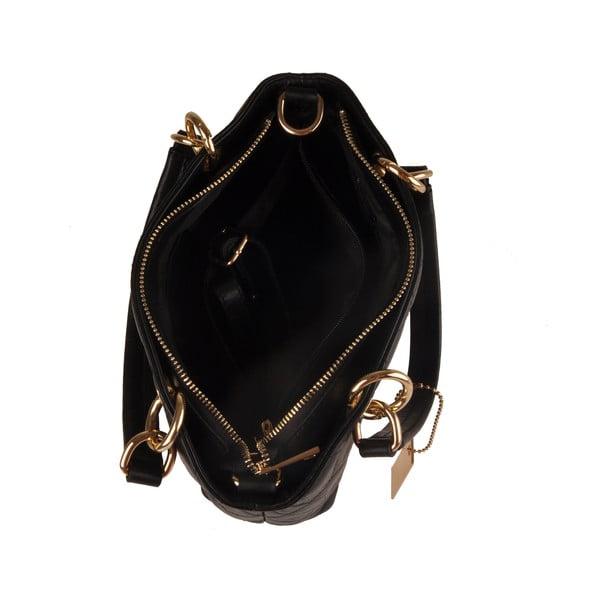 Skórzana torebka Emilio Masi Belore, czarna