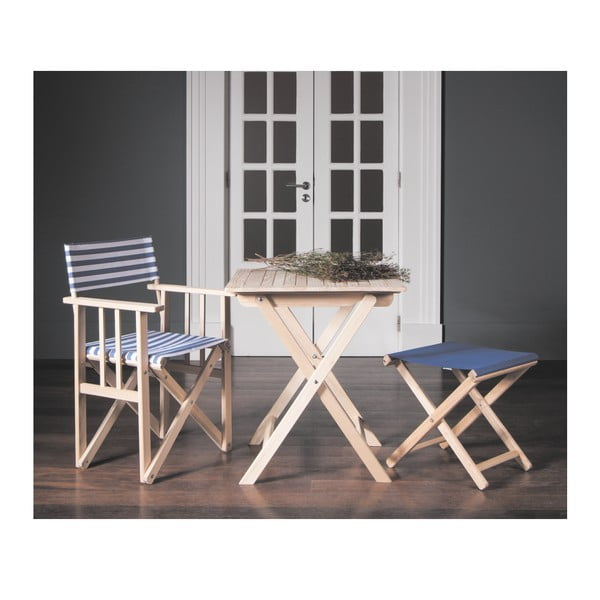 Składane krzesło Director, niebieskie
