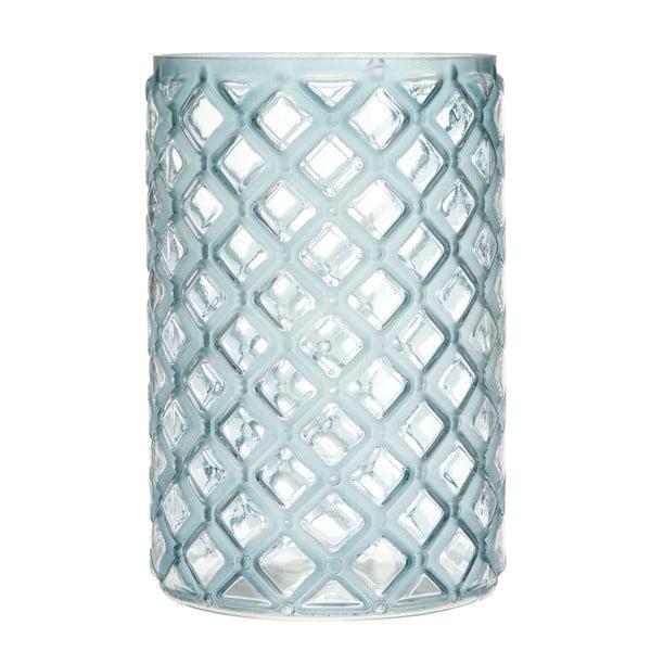 Lampion Cylinder Check Blue, 20 cm