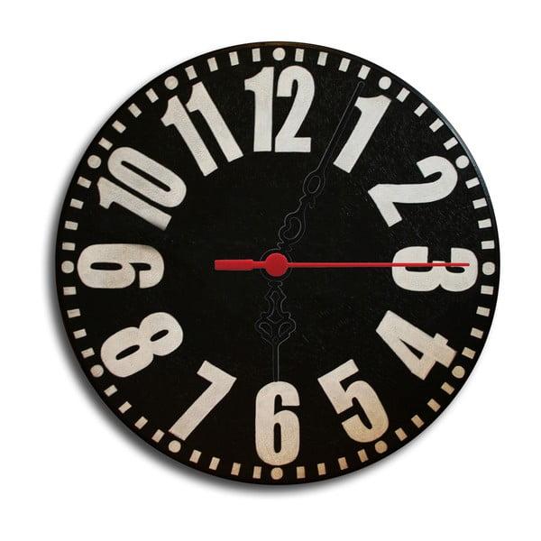 Zegar ścienny Back To Black, 30 cm