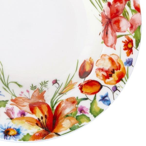 Kolorowy głęboki talerz Krauff Colibri, 21,5 cm