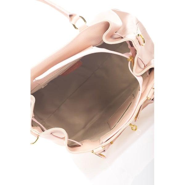 Różowa torebka skórzana Massimo Castelli Bibisa