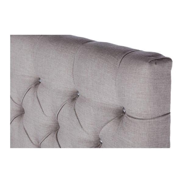 Szare łóżko z materacem Stella Cadente Saturne Forme, 160x200 cm