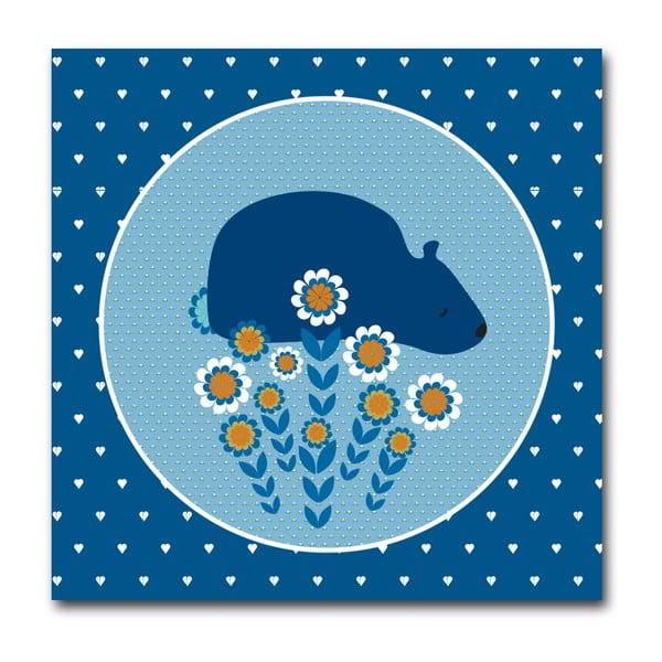 Plakat Niedźwiadek, mały