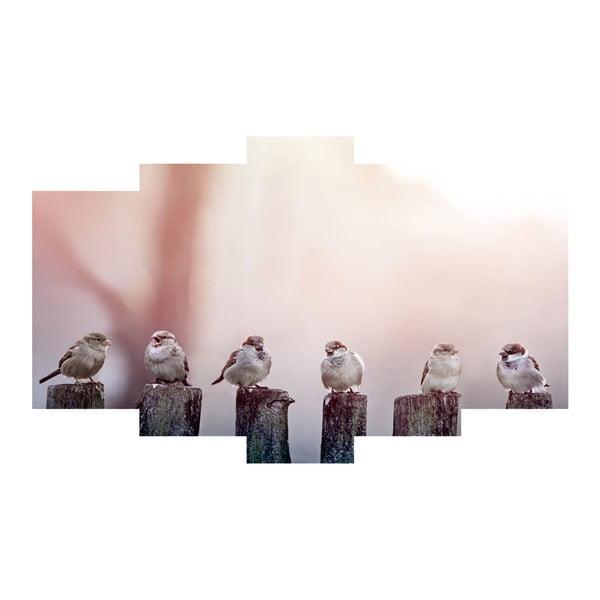 Pięcioczęściowy obraz Birds