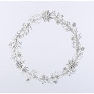 Metalowy wieniec Wreath, biały