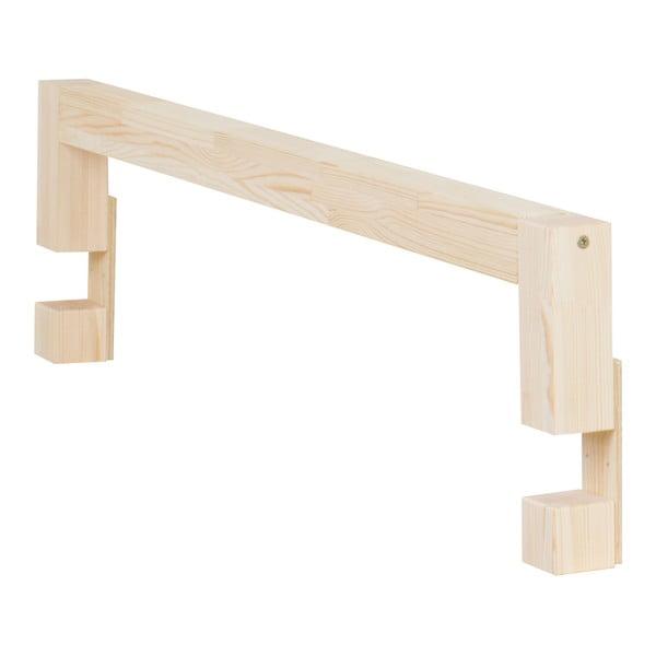 Boki do łóżka z naturalnego drewna świerkowego do łóżka Benlemi Safety,dł.90cm