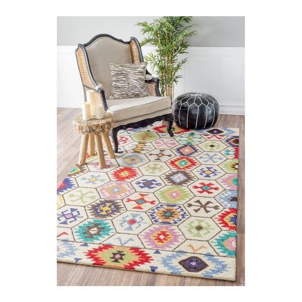 Wełniany dywan Azteco, 152x244 cm