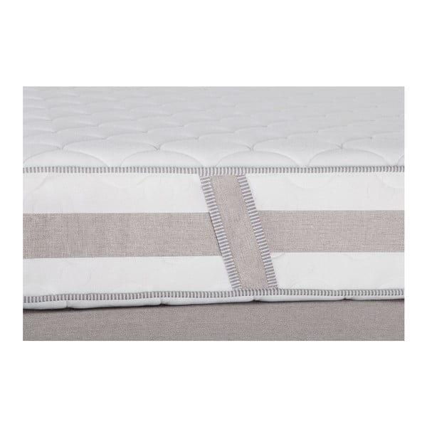 Szare łóżko z materacem Stella Cadente Saturne, 140x200 cm