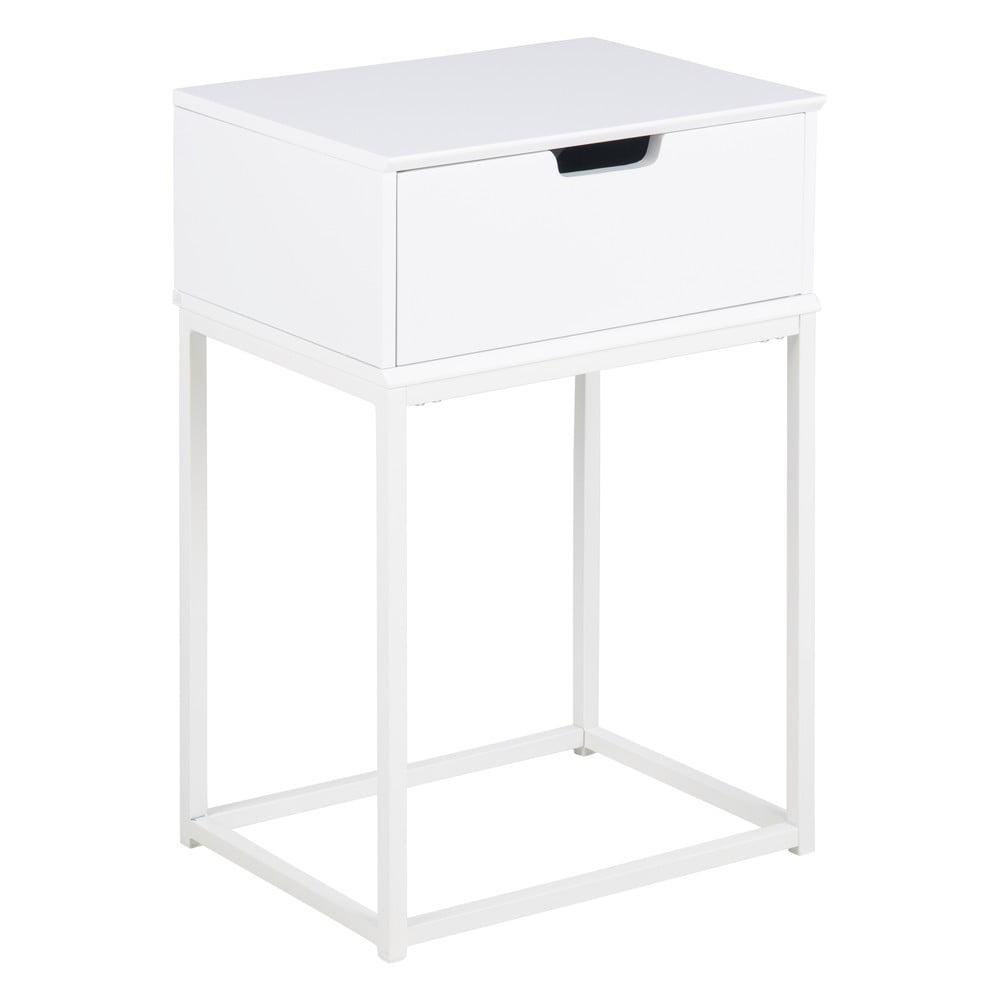 Biała szafka nocna Actona Mitra, 40x30 cm