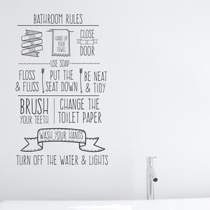 Winylowa naklejka na ścianę Little Nice Things Bathroom Rules