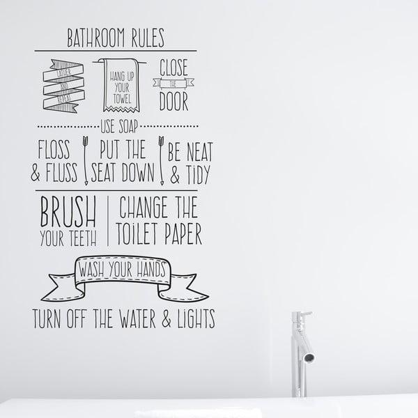 Winylowa naklejka na ścianę Little Nice Things Bathroom Rules
