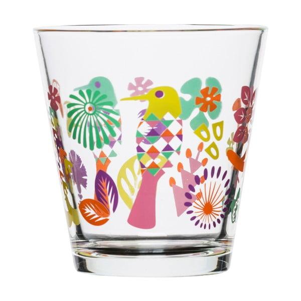 Zestaw 4 fioletowo-różowych szklanek Fantasy, 200 ml