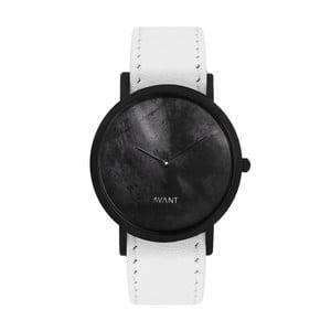 Czarny zegarek unisex z białym paskiem South Lane Stockholm Avant Diffuse