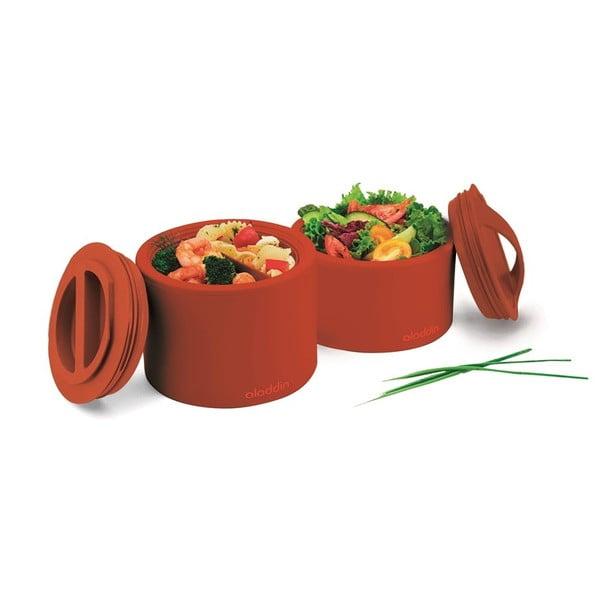 Pojemnik termiczny na żywność Bento 600 ml, morski z nadrukiem