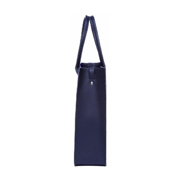 Skórzana torebka Two Tone Royal Blue/Metallic Navy