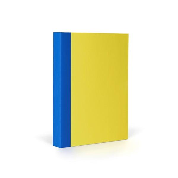Notes FANTASTICPAPER A6 Lemon/Blue, w kratkę