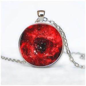 Damski łańcuszek z wisiorkiem Butoni de Camasa Red Galaxy