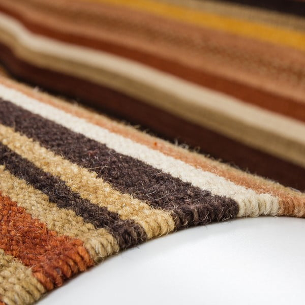 Wełniany dywan Atacama 80x150 cm, brązowy