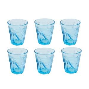 Zestaw 6 jasnoniebieskich szklanek Kaleidos, 225ml
