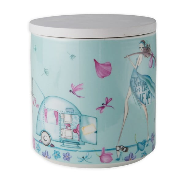 Porcelanowy pojemnik na ciastka Aquamarine Biscuits