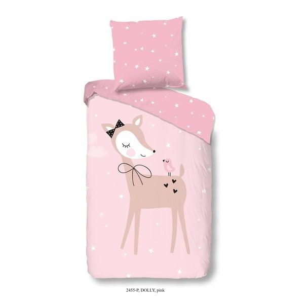 Dziecięca pościel jednoosobowa z czystej bawełny Good Morning Dolly, 140x200 cm