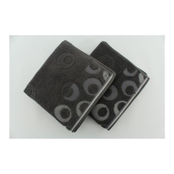 Zestaw 2 ręczników Arion Antracite, 50x90 cm