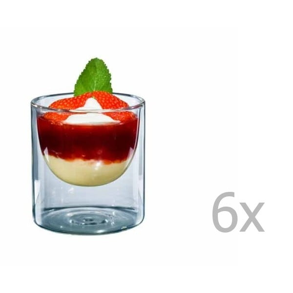 Zestaw 6   średnich szklanek bloomix Half Moon