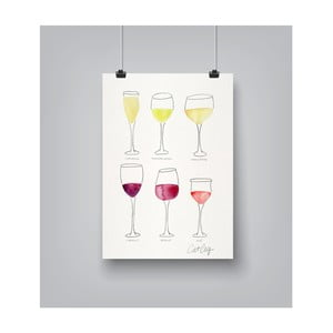 Plakat Americanflat Wine Glass Collection, 30x42 cm