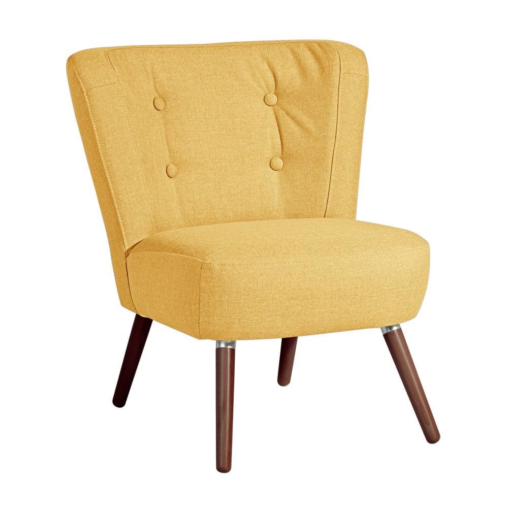 Żołty fotel Max Winzer Neele Yellow