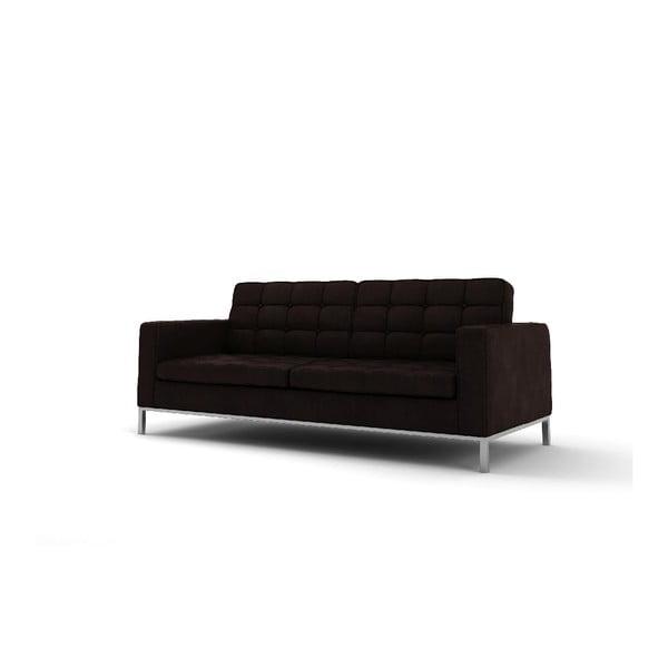 Trzyosobowa sofa Eagle, ciemnobrązowa