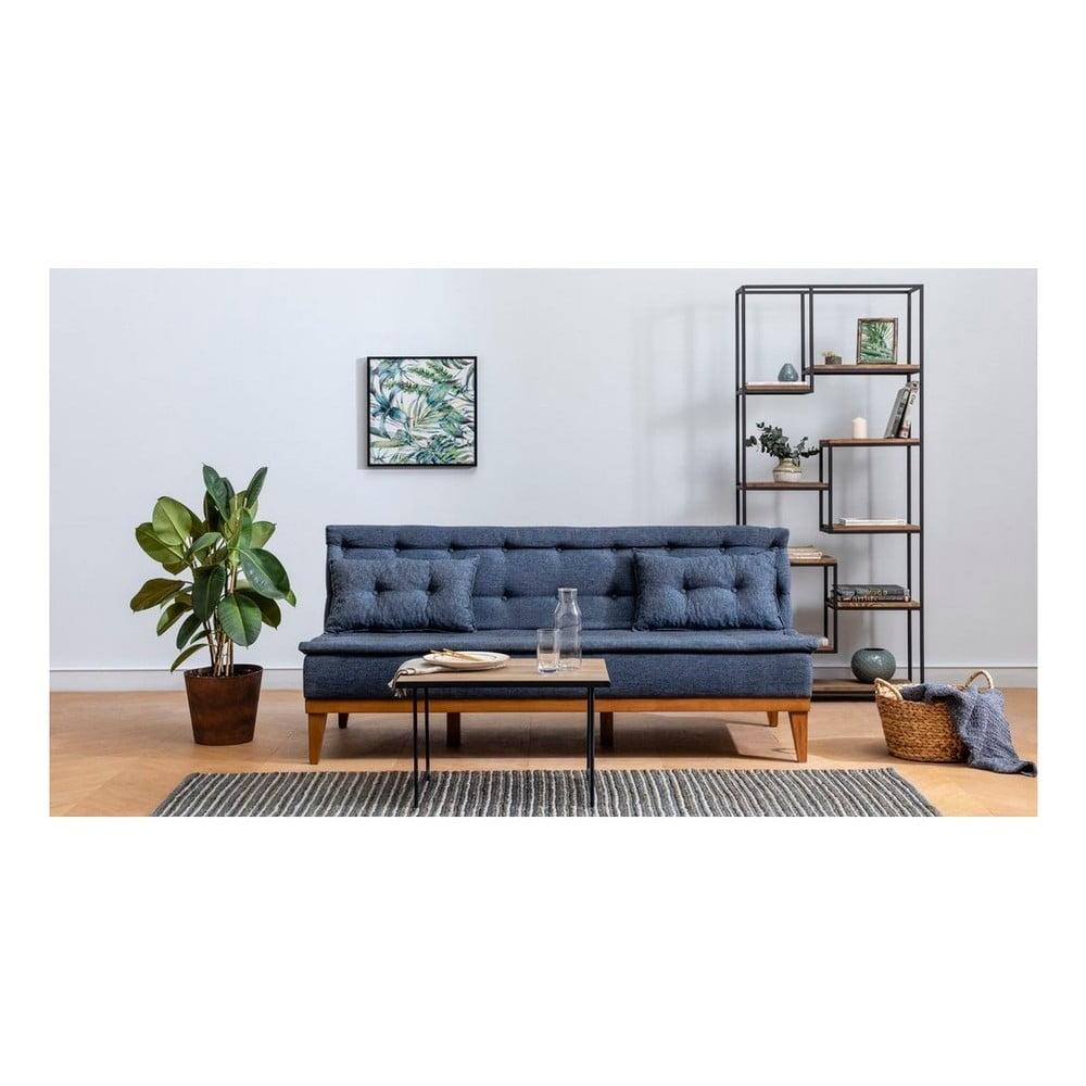 Ciemnoniebieska sofa rozkładana Aristea