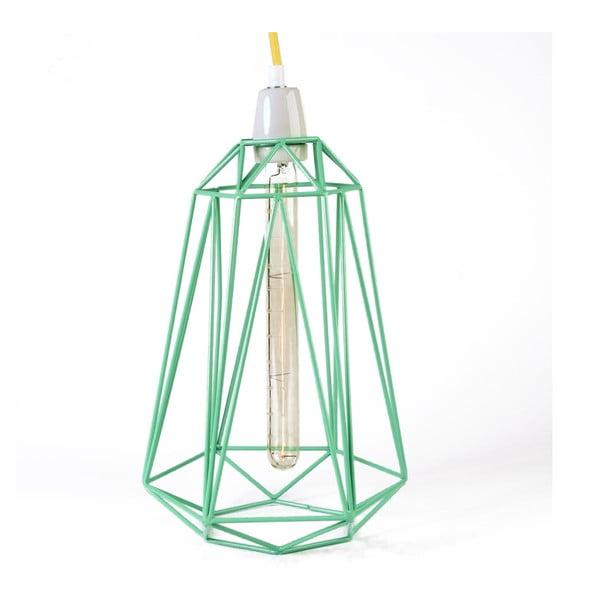 Miętowa lampa wisząca z żółtym kablem Filament Style Diamond #5