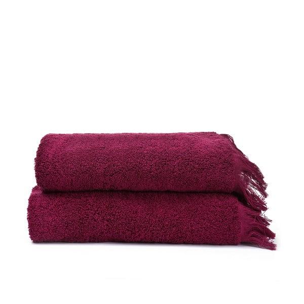 Zestaw 2 ręczników Face Red, 50x90 cm