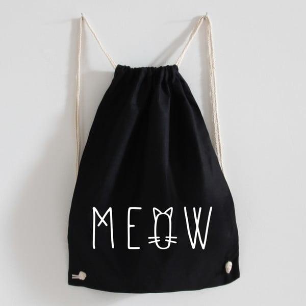 Plecak płócienny Meow Black